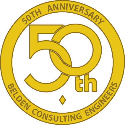 Belden Consulting Engineers 50th Anniversary Logo